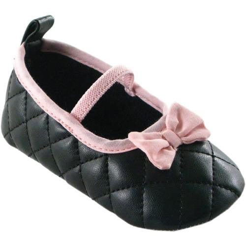 Luvable Friends Unisex-Child Sparkly Mary Jane Crib Shoe