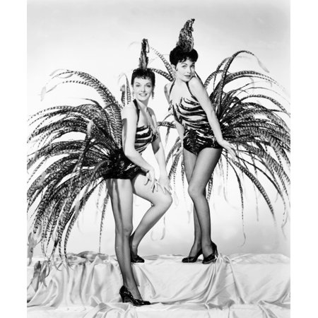 Gentlemen Marry Brunettes From Left Jane Russell Jeanne Crain In Costumes By William Travilla 1955 Photo Print (Jane Costumes)