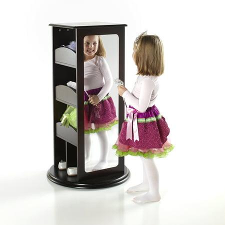 Rotating Dress Up Storage Center - Espresso - Dress Up Box