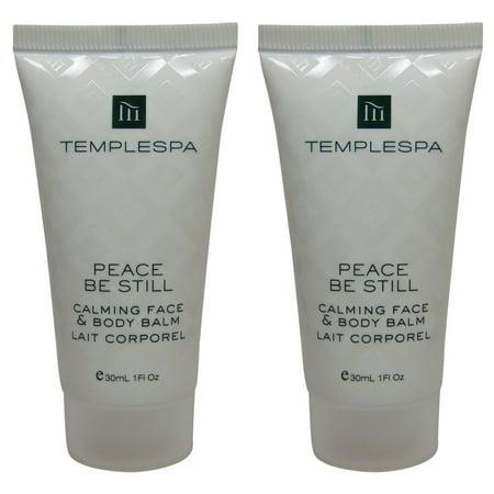 Temple Spa Peace Be Still Calming Face Body Balm Lotion 2 each 1oz tubes ()