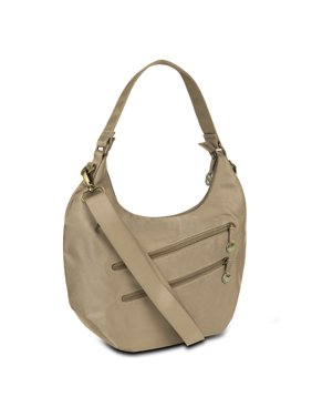 02bb026afff6f Product Image Hack-Proof Convertible Hobo with RFID Protection - Champagne