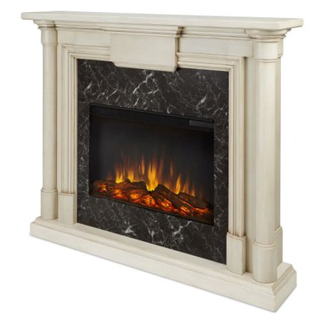 maxwell indoor electric fireplace whitewash