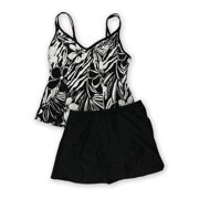 MiracleSuit Womens Malibu Skirted 2 Piece Tankini, black, 8