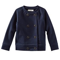 78e412fcce Product Image OshKosh B gosh Baby Girls  Navy Gold Accent Button French  Terry Collarless Blazer