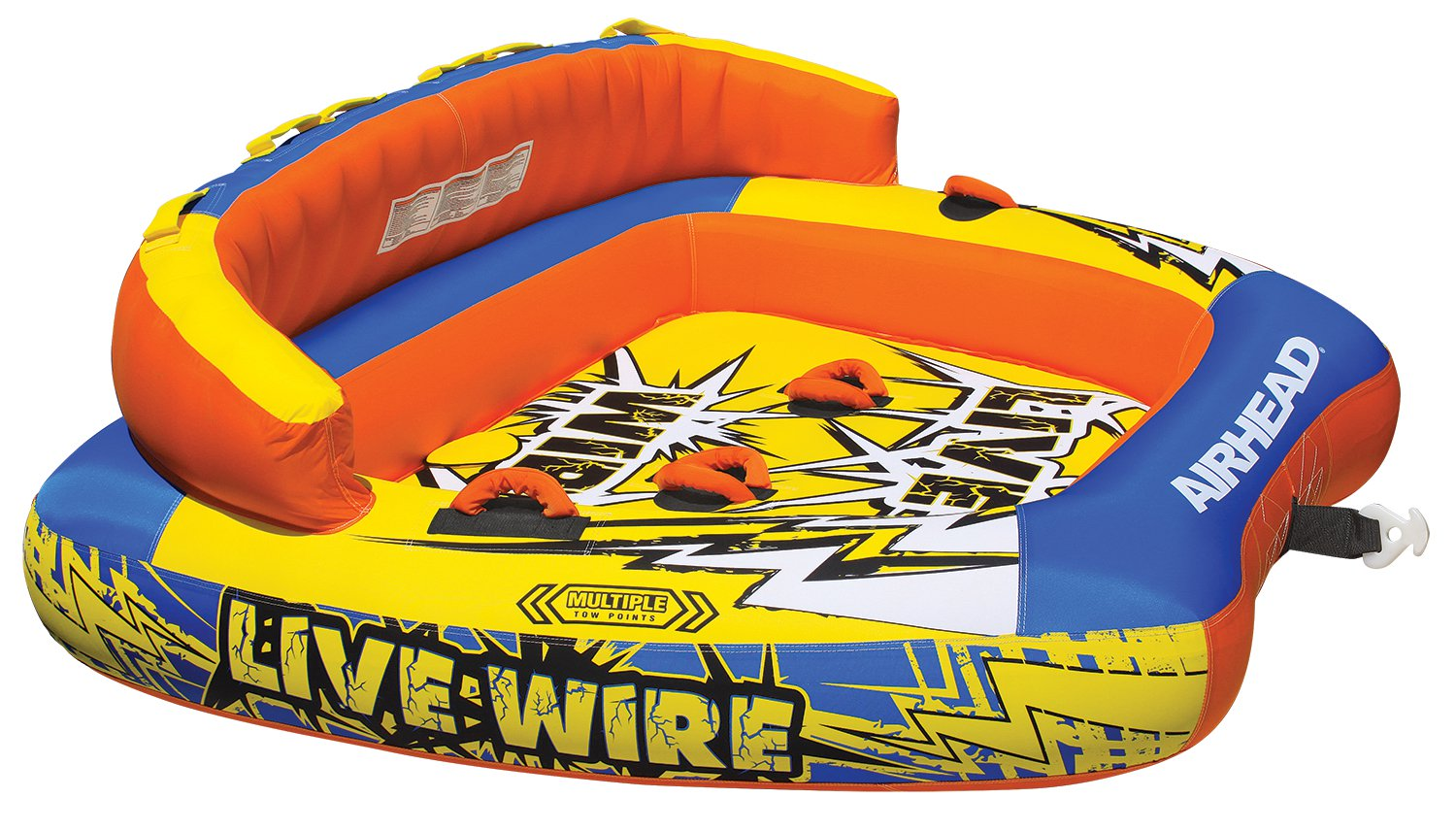 New AIRHEAD AHLW-3 Live Wire 3 Inflatable 1-3 Rider Boat Towable Lake Water Tube by