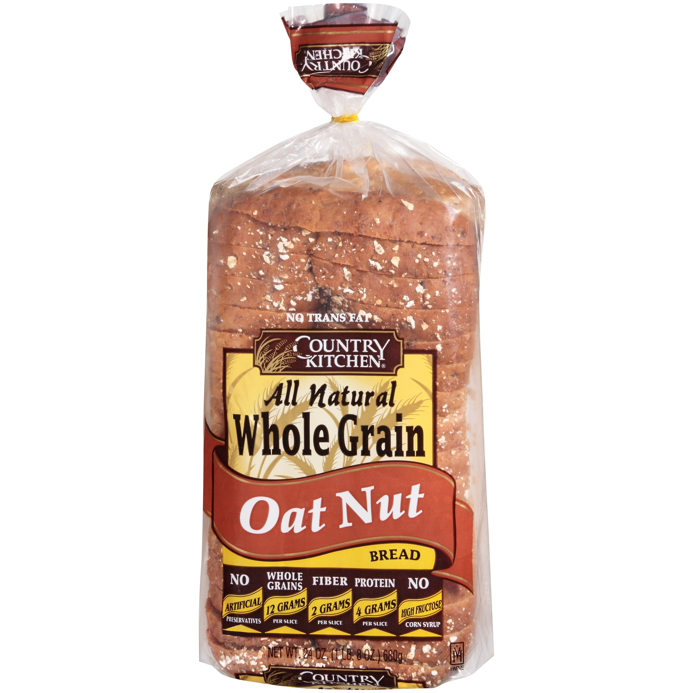 Country Kitchen® All Natural Whole Grain Oat Nut 24 oz. Loaf