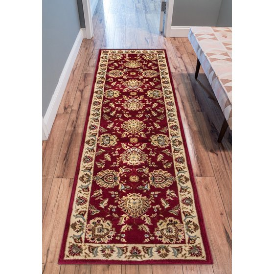 Sultan Sarouk Red Persian Floral Oriental Formal Traditional 2x7 23 X 7