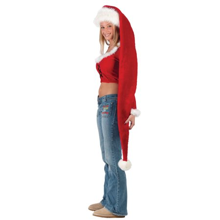 Long Holiday Santa Claus Fun Christmas Red Hat Costume - Make Santa Claus Hat