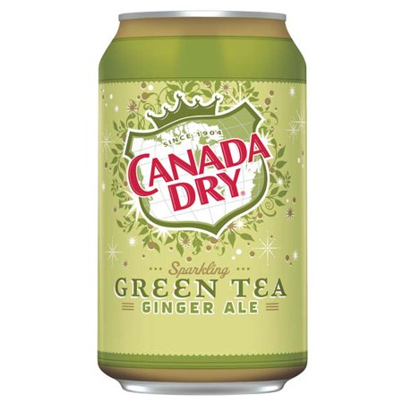 Canada Dry Ginger Ale Sparkling Green Tea 12 Oz Cans   Pack Of 24