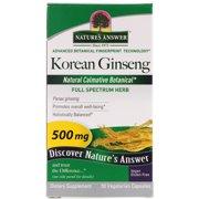 Nature s Answer  Korean Ginseng  500 mg  50 Vegetarian Capsules