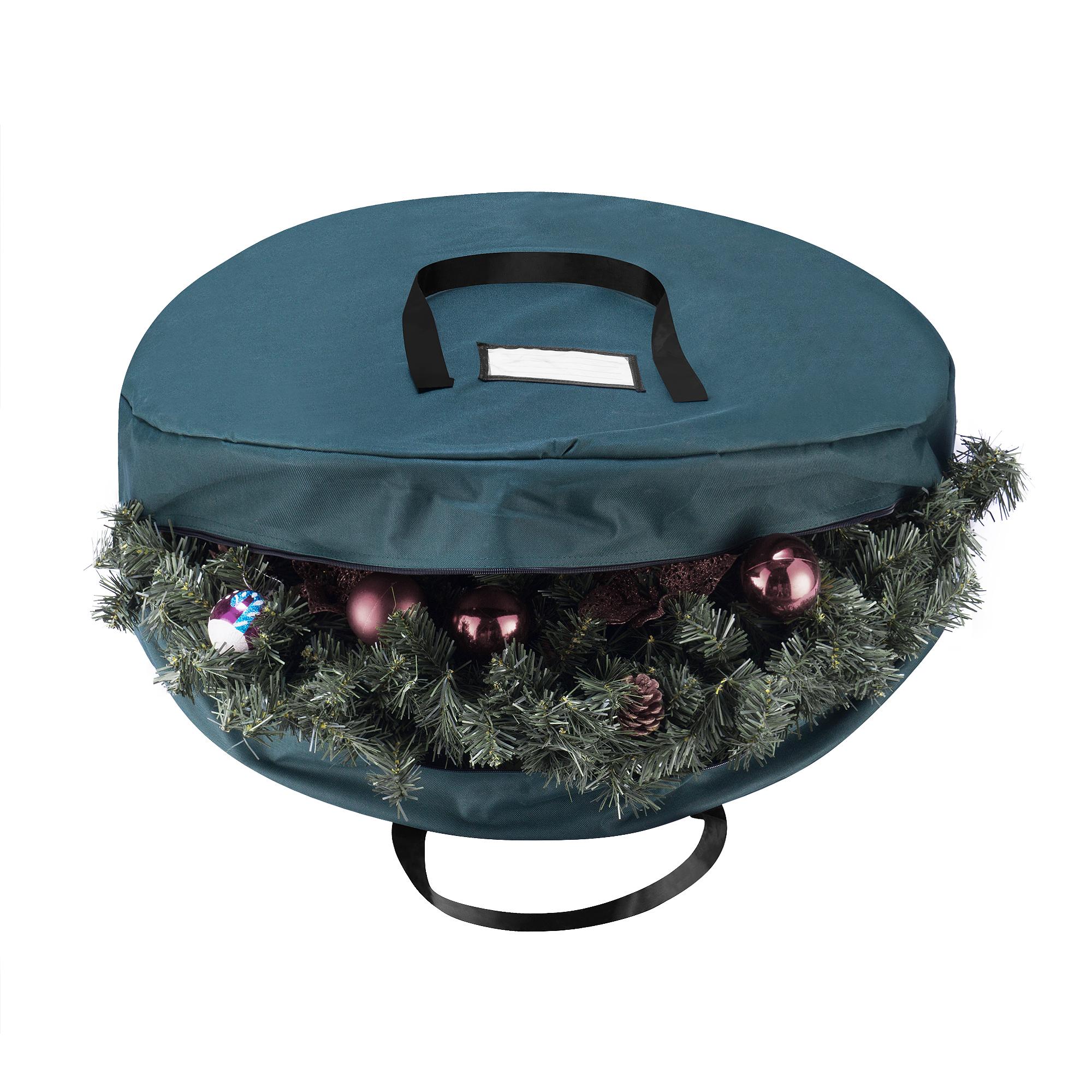 Elf Stor Green Canvas Holiday Christmas Wreath Storage Bag For 30 Wreaths