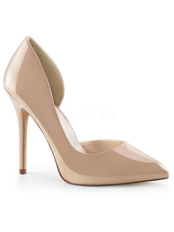 """AMU22/NU Pleaser Single Soles 5"""" Heel Shoes Nude Pat Size: 5"""