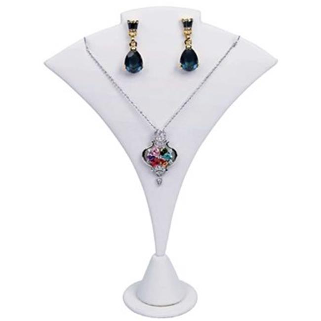 Dlux Jewels White Leathere Two Tone Earring with Necklace
