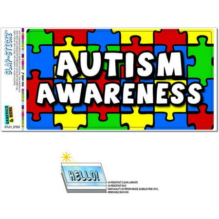 Autism Awareness Background Puzzle Automotive Car Window Locker Bumper Sticker - Autism Stickers