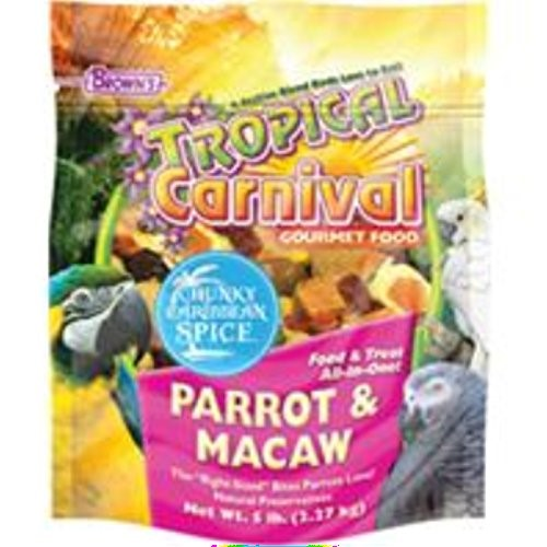 Brown's Tropical Carnival Parrot & Macaw Bird Food, 5 Lb by F.M. BROWN'S SONS, INC.