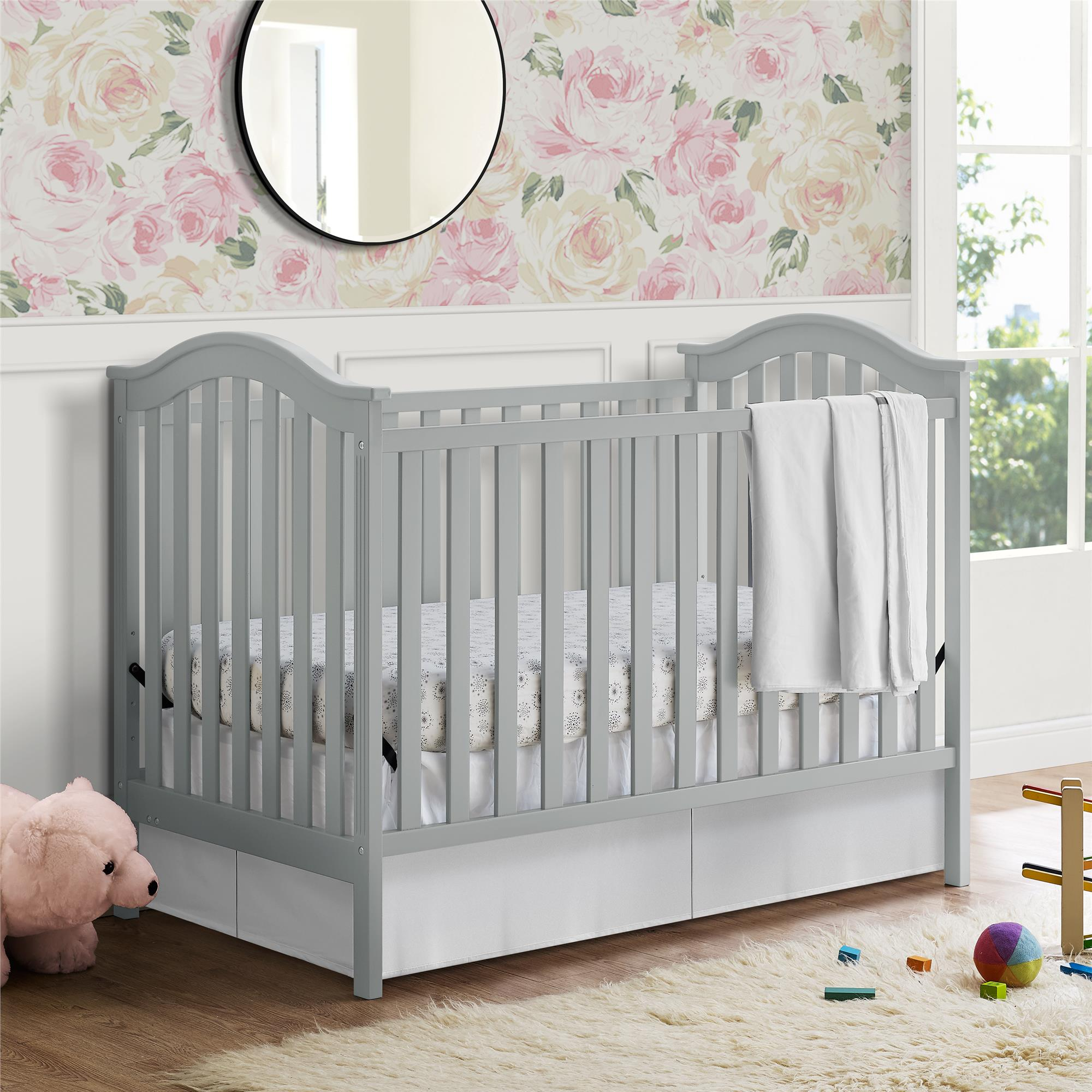 Baby Relax Adelyn 2 In 1 Convertible Crib, White   Walmart.com