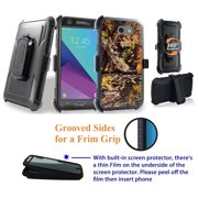 """for 5"""" Samsung Galaxy J3 Luna Pro ECLIPSE Mission Case Phone Case 360° Cover Screen Protector Clip Crystal Holster Kick stand Armor Shock Bumper Camo Woods"""