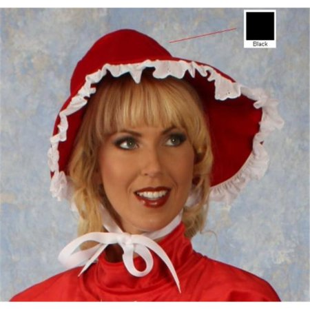 Alexanders Costume 22-140/B Dickens Lady Bonnet - - Red Black Harlequin Costume