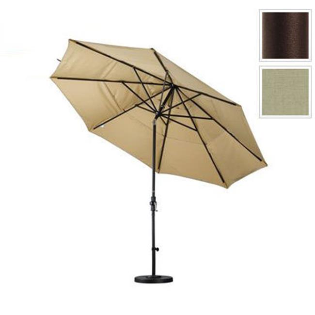 11 ft. Aluminum Market Umbrella Collar Tilt Double Vents - Bronze - Pacifica - Taupe