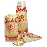 """Printed Popcorn Bags 3 1/2"""" X 8"""" 
