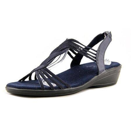 14de6385690f Easy Street Natara Women Open-Toe Synthetic Blue Slingback Sandal -  Walmart.com
