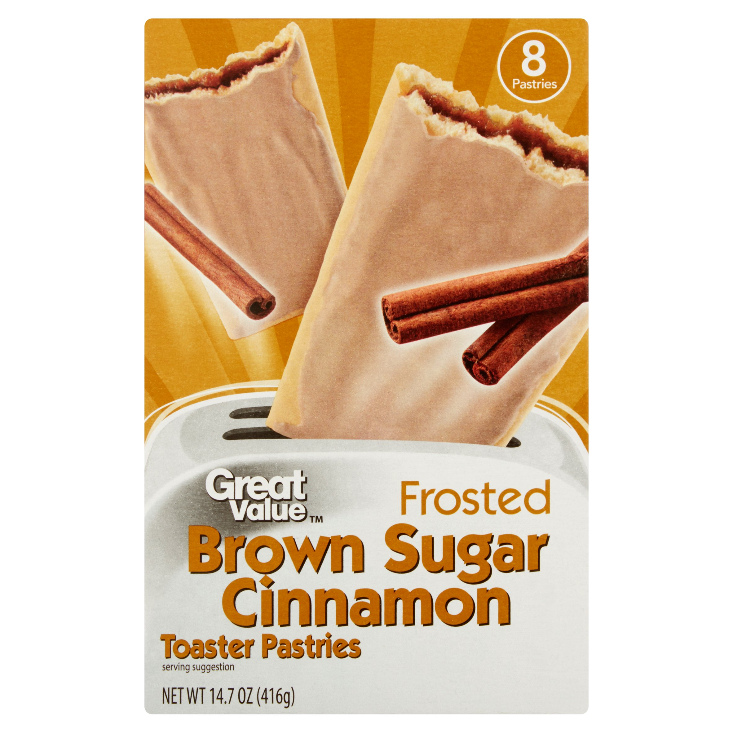 Great Value Frosted Brown Sugar Cinnamon Toaster Pastries, 8 Ct by Wal-Mart Stores, Inc.