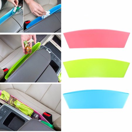 3 Colors Universal Car Seat Slit Side Pocket Catch Organizer Console Catcher Storage Pouch Bag Box Phone Holder