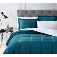 Chezmoi Collection 3-Piece Micromink Sherpa Reversible Down Alternative Comforter Set