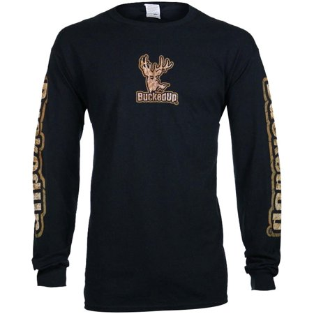 bucked up men s buckskin logo long sleeve shirt 315722 walmart com