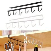 Sky 2PCS Kitchen Storage Rack Cupboard 6 Hooks Under-Cabinet Hanger Rack New