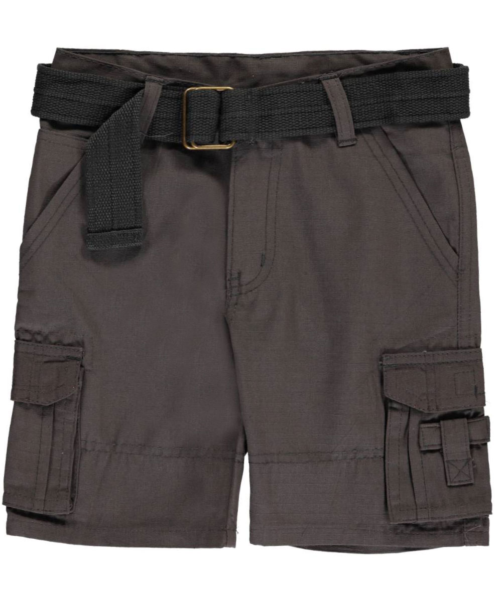 "Quad Seven Little Boys' Toddler ""Grid Matrix"" Belted Cargo Shorts (Sizes 2T - 4T)"