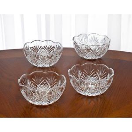 Leave Bowl Candy Halloween (Dublin Non-Leaded Crystal Small Candy Nut Bowls Dishes, Set of)