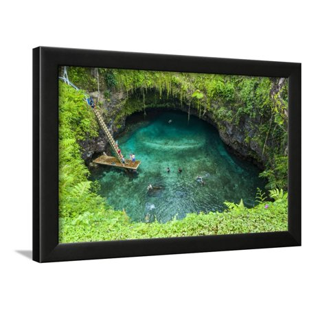 To Sue Ocean Trench in Upolu, Samoa, South Pacific Framed Print Wall Art By Michael (Trench Ocean Floor)