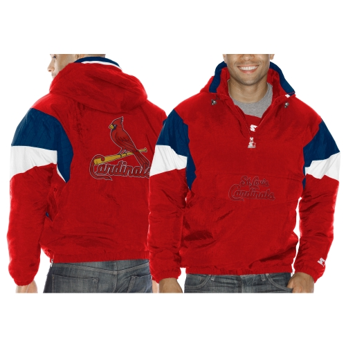 Mens St. Louis Cardinals Starter Red Breakaway Quarter Zip Jacket by G-III LEATHER FASHIONS INC
