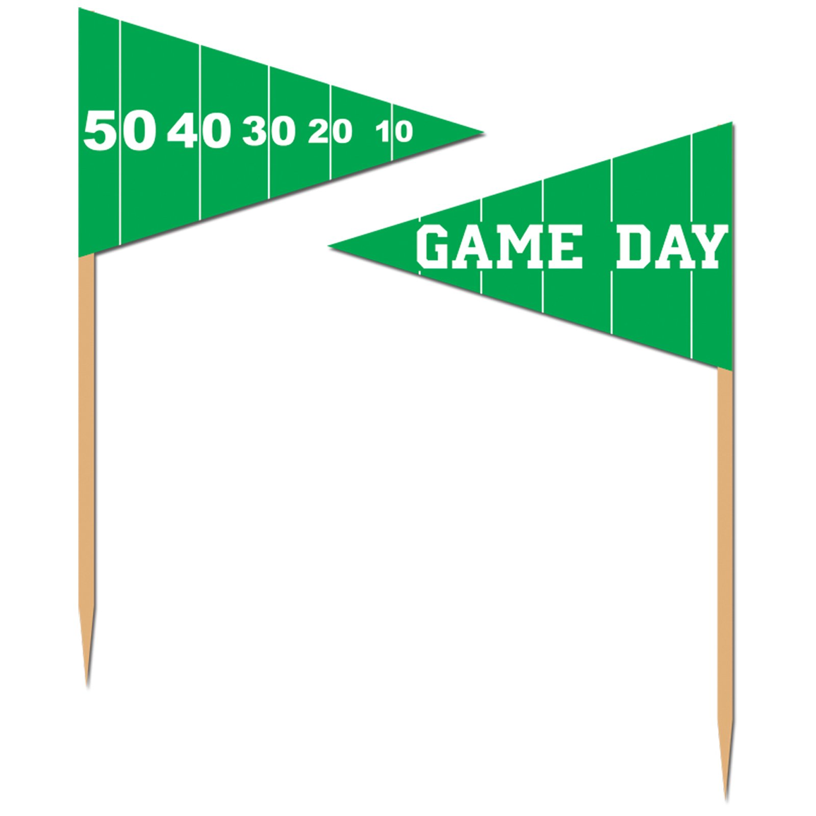 Game Day Football Super Bowl Party Appetizer Cake Cupcake Food Picks - Box of 50