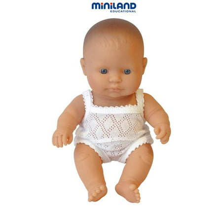 Miniland Educational 31121 Newborn baby doll european boy- 21cm- 8 .2 in. Case