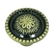 Stone Mill Hardware - Brushed Antique Brass Acapulco Cabinet Knob