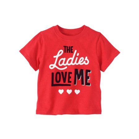 Toddler Boys Red Valentines Day T-Shirt The Ladies Love Me Shirt