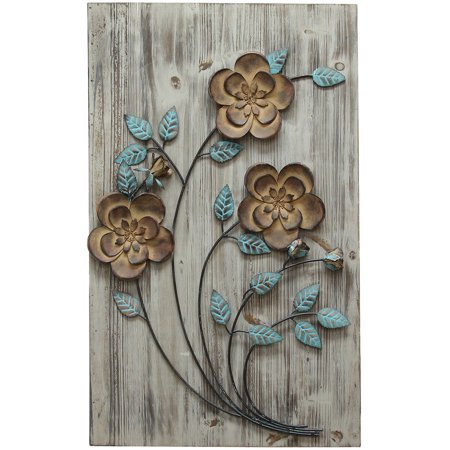 - Stratton Home Decor Rustic Floral Panel II