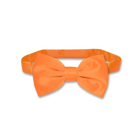 Vesuvio Napoli BOWTIE Solid ORANGE Color Men's Bow Tie for Tuxedo or (Orange Bowties)