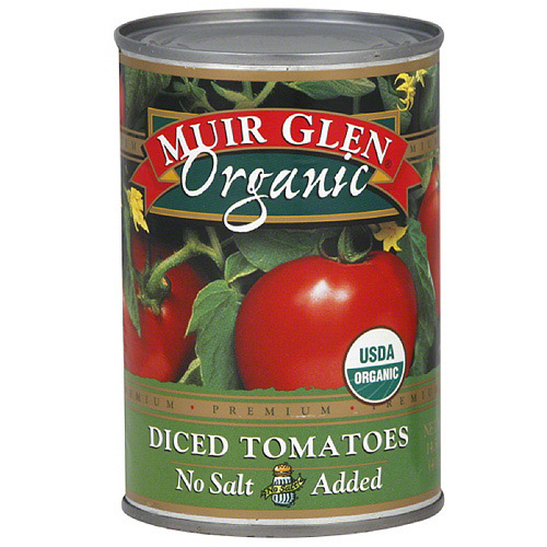 Muir Glen No Salt Added Diced Tomatoes, 14.5 oz (Pack of 12)