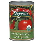 Muir Glen No Salt Added Diced Tomatoes, 14.5 oz (Pack of 12)