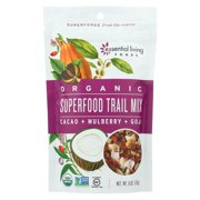 Essential Living Foods Superfood Trail Mix - Cacoa, Mulberry And Goji - Pack of 6 - 6 Oz.