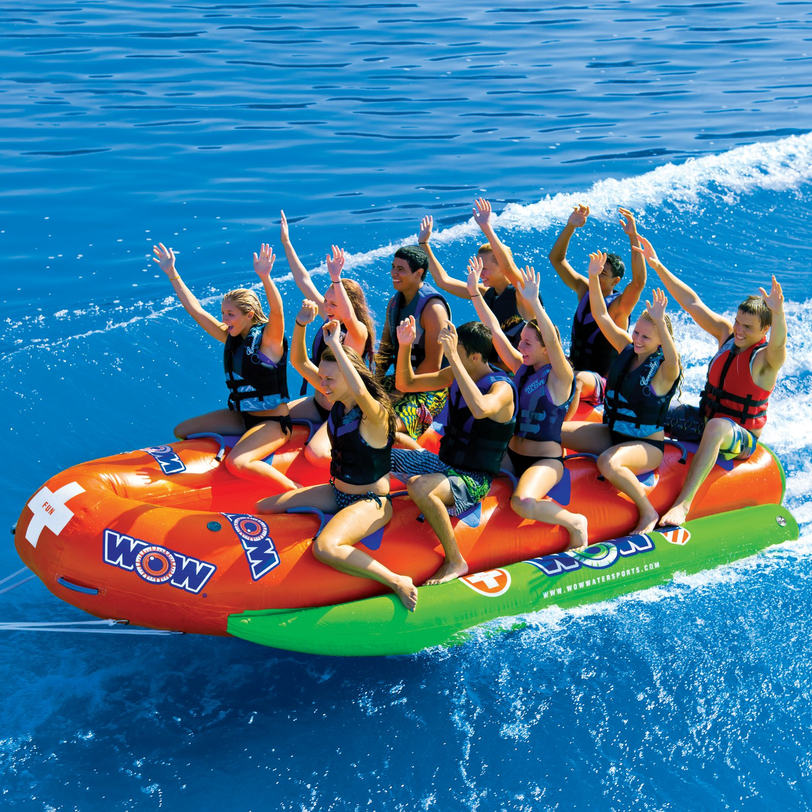 10-Person Closed Bow Banana Boat