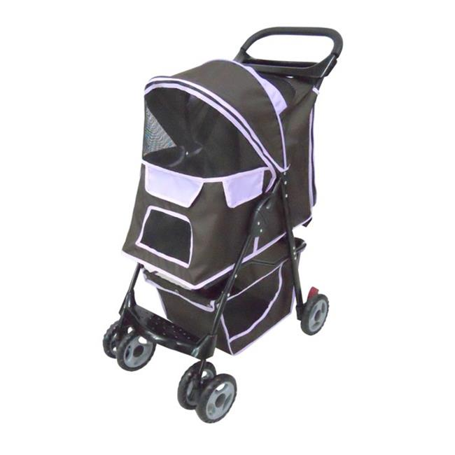 Pet Stroller, 6 x 6 inch Wheel With Cup Holder