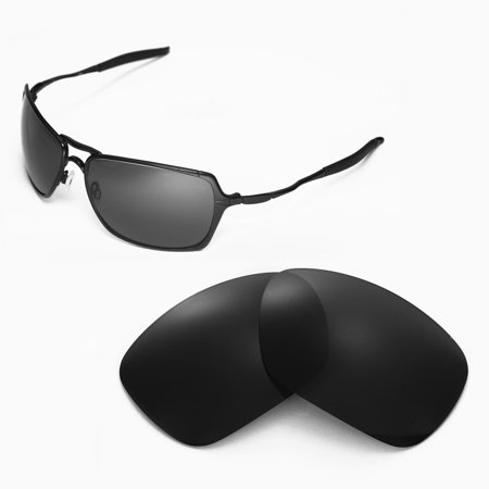 Walleva Black Polarized Replacement Lenses for Oakley Inmate Sunglasses