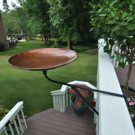 Starlight Garden & Patio Torche Solid Copper Bird Bath with Deck Mount
