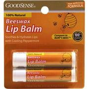 Good Sense Beeswax Twin Pack Lip Balm, 13.3 oz - Case of 48
