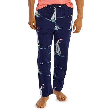 Sailboat Motif Cotton Pajama Pants