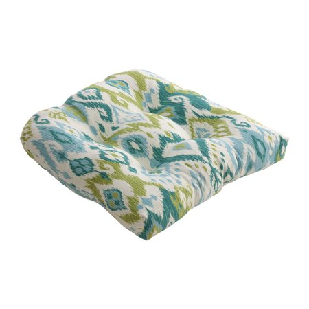 Gunnison Teal Blue and Green Dyed Indonesian Cotton Chair Cushion 19